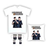 Kit Camiseta, Almofada E Caneca Henrique E Juliano