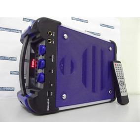 Caixa Som Bluetooth 200w Amplificada Rca Fm Mic S Fio Usb Sd