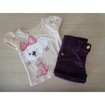 Conjunto Lilica Ripilica Baby Blusa E Short 3-6m/6-9m
