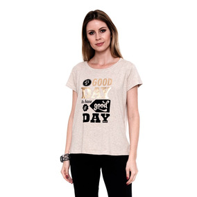 Camiseta T-shirt G-day Bege Estampada