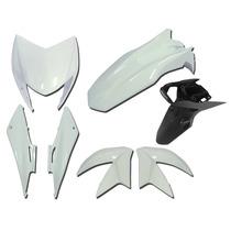 Carenagem Nxr Bross 150 Branco 2014 Kit Completo+sup Placa