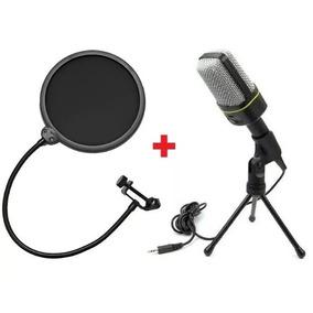 **kit** Microfone C/fio Condensador Sf-666+pop Filter Tripe