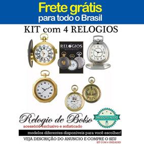 Lote Kit 4 Relogios De Bolso Historicos Novos - Frete Gratis