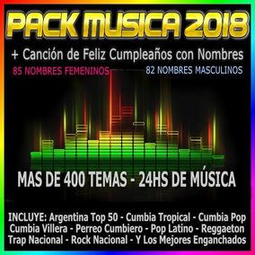 Pack Música Actualizada + Cumpleaños Por Nombres
