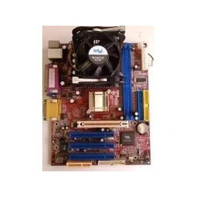 Tarjeta Madre Para Intel 478 Con Procesador