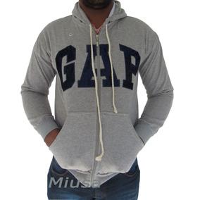 Blusas Moleton Masculina Gap Canguru C/zíper Capuz Inverno