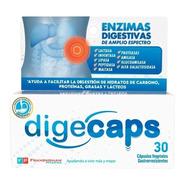 Digecaps Enzimas Digestivas Capsulas Vegetales 30u. Original