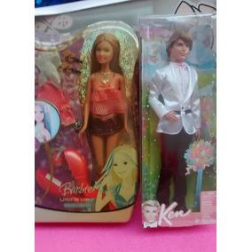 Bonecas Casal Ken Noivo E Barbie Ultra Hair Summer Mattel