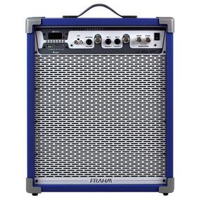 Caixa Acústica Amplificada Lc450 App, 60w - Azul - Frahm
