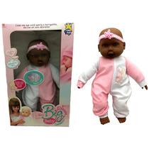 Boneca Big Bebê Carinhoso Bebezão Morena Negra - Divertoys