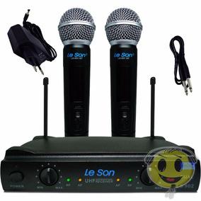 Microfone Sem Fio Duplo Leson Ls902 Ht + Case - Kadu Som