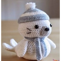 Amigorumi Foca Muñecos Tejidos A Mano Crochet Amigorumis