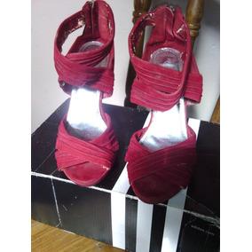Sandalias Zapatos Tacon Fiesta Vestir Rojas #39