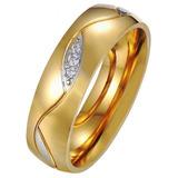 Juego De Anillos De Matrimonio En Oro Laminado 6mm