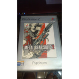 (pal) Metal Gear Solid 2 Ps2 Original Español