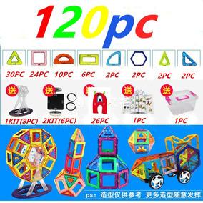 Blocos Formas De Construção Magnéticos Mags 120 Peças Boleto