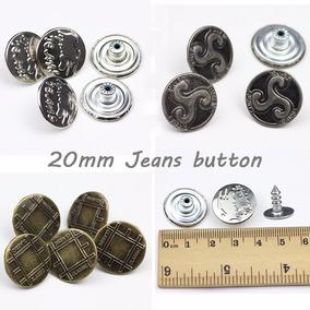 30 Botões Fixo Para Calça Saia Bermuda Short Jeans - 20mm