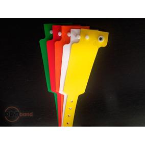 100 Pulseras / Brazaletes Plásticas Promo Lanzamiento 2,7 Cm