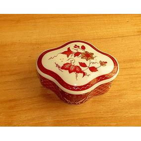 Alhajero Porcelana Japonesa Flores Oro Gran Colorido