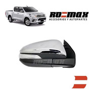 Espejo Toyota Hilux 16-19 Eléctrico Cromado Rebatible Romax