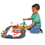 Brinquedos Menino Playset Posto Lava Jato 4 Carrinhos Mcs006