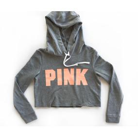 Buzo Pink Victorias Secret Algodon Capucha Talle Small