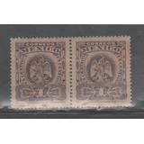 No.102-méxico Par Aguilita Scott 304 1 Centavo Violeta-1903