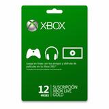 Tarjeta 12 Meses Xbox Live Gold One Y 360 - Se Envía X Email