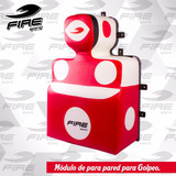 Modulo Costal De Pared Golpeo Box Mma Pelea Fire Sports Rojo