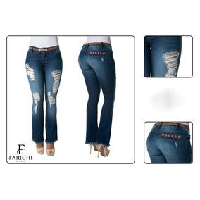Jeans Levanta Cola Farichi Studio 66527 Bota Campana