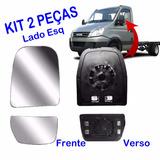 Lente Com Base Retrovisor Iveco Daily Kit 2 Peças Esquerdo