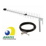 Kit Antena Rural Celular 12 Dbi Quadriband 15mt Cabo Anatel