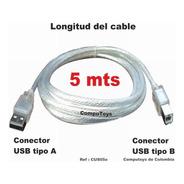 Zcus05o Cable Usb A-b Para Impresora 5m Qcus05oq Compu-toys