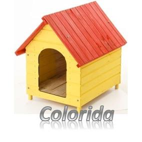 Casa Casinha Madeira Cão Cachorro Extra N.7 Grande Colorida