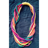 Collar De Colores Elaborado Con Tela