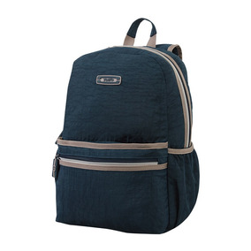 Morral Para Hombre Mujer Unisex Back Pack Azul Beige - Ipad
