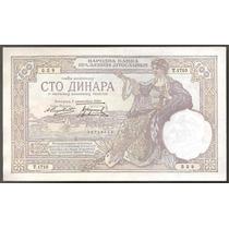 Yugoslavia, 100 Dinara, 1929. P#27b. Sin Circular