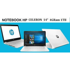 Baratisima Laptop Hp Celeron 3060- 1 Tera 4 Gb- 14 Blanco