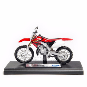 Moto Trilha Honda Cr250r Miniatura Welly Escala 1/18