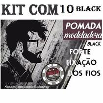 Kit 10 Pomada Modeladora Black 120g Poker Mens + Brinde
