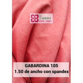 Tela Gabardina 5 Metros Rojo Tornasolado Spandex N 105
