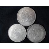 Monedas Mexicanas Antiguas De Colección 3 Monedas De Mexico