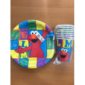 Platos Y Vasos De Elmo Fiesta Importado