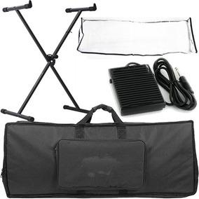 Kit Para Teclado Com Capa + Pedal + Suporte + Acessórios