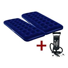 Colchon Inflable 1 Plaza X 2 +  Inflador+parche