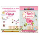 100 Kits De Colorir Personalizado 15x20cm + Giz Lembrancinha