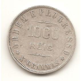 R27 - Moeda De 1000 Réis - Prata - X Grammas - 1911