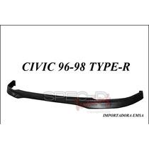 Lip Spoiler Delantero Honda Civic 96 - 98 Type R Uretano