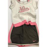 338. Conjunto Nena Nike Mini Con Short Y Remera Importado 6