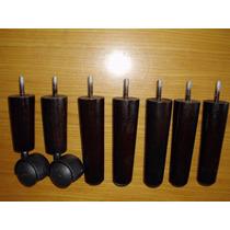 Pé De Cama Box C/7 Pes Madeira C/12cm De Altura Casal